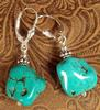 NEW! Turquoise Nugget and Bali Silver Earrings