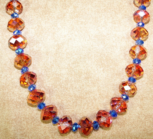 Copper and Sapphire Necklace