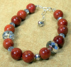 NEW! Sponge Coral and Chinese Crystal Bracelet