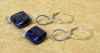 NEW! Sodalite Diamonds and Crystal Earrings