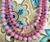 NEW! Pink Jade Triple Strand Necklace