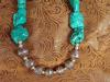 Chunky Turquoise and Ornate Bali Silver Necklace